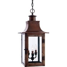 Chalmers 3 Light Outdoor Hanging Lantern