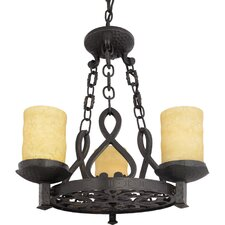 <strong>Quoizel</strong> La Parra 3 Light Chandelier