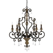 <strong>Quoizel</strong> Marquette Two Tier Chandelier with 9 Uplights in Heirloom