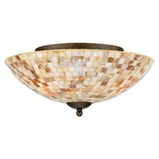 3 Light Monterey Mosaic Semi Flush Mount