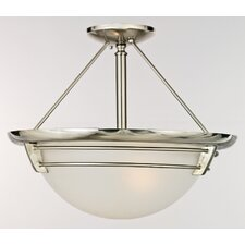 <strong>Quoizel</strong> New England 3 Light Semi-Flush Mount