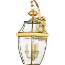 Newbury 3 Light Outdoor  Wall Lantern