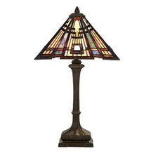 "Classic Craftsman 29"" H Table Lamp with Empire Shade"