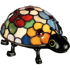 """Tiffany Flowered Lady Bug 4.5"""" H Table Lamp"""