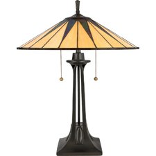 "Gotham Tiffany 25"" H Table Lamp with Empire Shade"