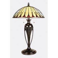 "Alhambre Tiffany 28"" H Table Lamp with Bowl Shade"