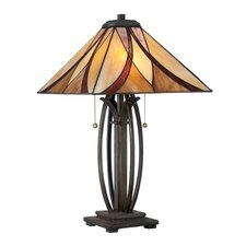 "Tiffany 25"" H 2 Light Table Lamp"