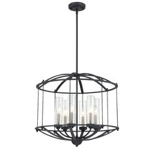 Troy 6 Light Foyer Pendant