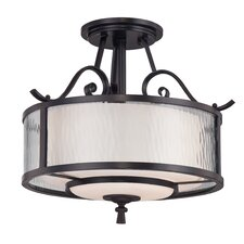 <strong>Quoizel</strong> Adonis 3 Light Semi Flush Mount