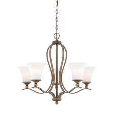 <strong>Quoizel</strong> Sophia Five Light Chandelier in Palladian Bronze