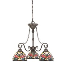 Larissa Three Light Chandelier in Vintage Bronze