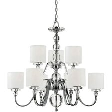 <strong>Quoizel</strong> Downtown 9 Light Chandelier
