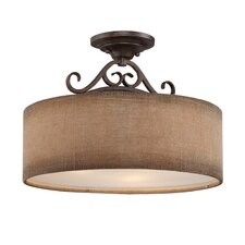 <strong>Quoizel</strong> Carlsbad 3 Light Semi-Flush Mount