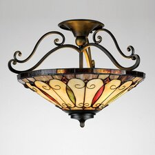 Felice Tiffany Semi Flush Mount