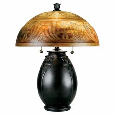 "Glenhaven "" H Table Lamp with Bell Shade"