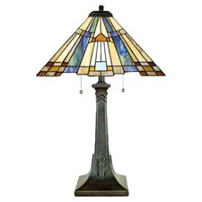 "Inglenook Tiffany 25"" H Table Lamp with Empire Shade"
