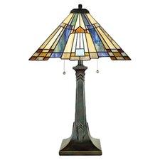 "Inglenook Tiffany 25"" H Table Lamp with Empire Shade"