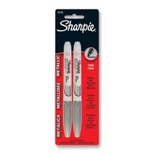 Metallic Sharpie, Permanent, Fine Point, Silver (2 Pack)