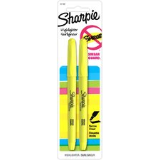 Fluorescent Accent Pocket Style Highlighter (2 Pack) (Set of 6)