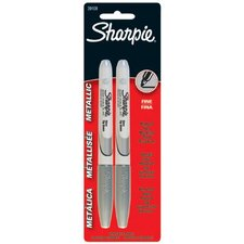 Sharpie® Metallic Permanent Markers - sharpie metallic silver2 ct fine tip marker