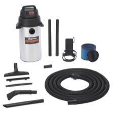 Stainless Steel Wall Mount Garage Wet / Dry Vacuum
