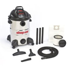 12 Gallon 6.0 Peak HP Stainless Steel Wet / Dry Vacuum