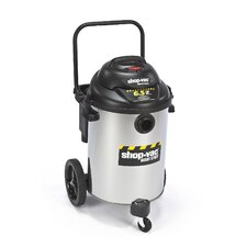 15 Gallon Stainless Steel 6.5 Peak HP Right Stuff Wet / Dry Vacuum