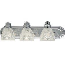 Crystal Cut Glass 3 Light Vanity Light