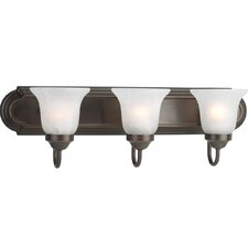 Builder Bath 3 Light Vanity Light