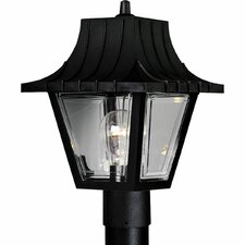 Mansard Roof 1 Light Post Lantern