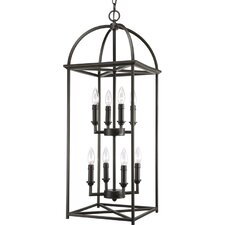 Thomasville Piedmont Eight Light Foyer Lantern in Antique Bronze