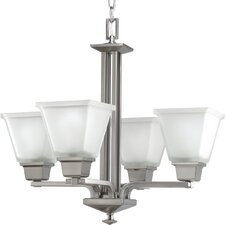 North Park Chandelier in Brushed Nickel