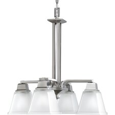 North Park Down Chandelier in Brushed Nickel
