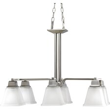 North Park Linear Chandelier in Brushed Nickel