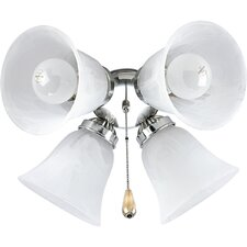 <strong>Progress Lighting</strong> AirPro Four Light Ceiling Fan Light Kit