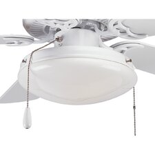 AirPro Two Light Round Indoor or Outdoor Ceiling Fan Light Kit