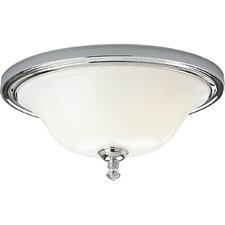Victorian Pearl Nickel Flush Mount