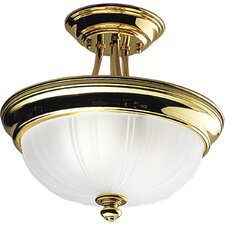 Prescott  Polished Brass  Semi Flush Mount