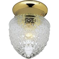 <strong>Progress Lighting</strong> Polished Brass Acorn Single Light Flush Mount