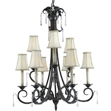 <strong>Progress Lighting</strong> Veranda 9 Light Candle Light Chandelier