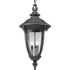 Meridian Chain Hung 3 Light Outdoor Lantern