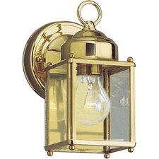 <strong>Progress Lighting</strong> Brass Guard Square Style Incandescent Outdoor Lantern