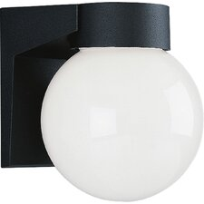 Incandescent 1 Light Globe Outdoor Wall Lantern