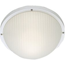 <strong>Progress Lighting</strong> Polycarbonate Round Incandescent 1 Light Outdoor Flush Mount
