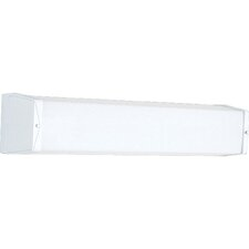 17W Energy Star Square Bracket Linear 2 Fluorescent Light Bath Bar with Electronic Ballasts