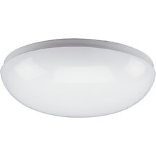 <strong>Progress Lighting</strong> Round White Fluorescent Ceiling Cloud