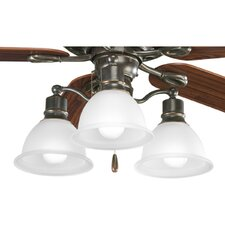 <strong>Progress Lighting</strong> Madison Three Light Branched Ceiling Fan Light Kit