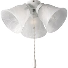 <strong>Progress Lighting</strong> AirPro Three Light Universal Ceiling Fan Light Kit