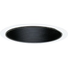 "7.75"" Baffle Recessed Trim in Black"