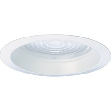 "8"" Regressed Fresnel Recessed Trim in White Prismatic"